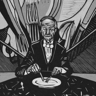 Soup and Fish (Portrait of Angus Whyte)