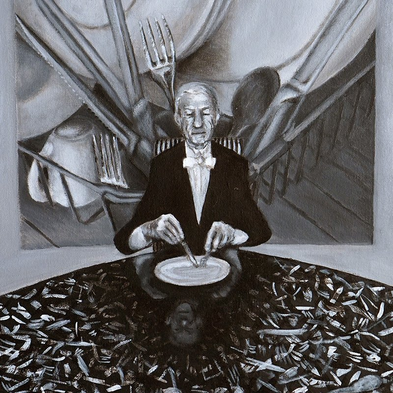 Soup and Fish (Portrait of Angus Whyte) by Shokai Sinclair
